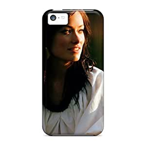 Saraumes XohafLA8406RKknq Case For Iphone 5c With Nice Olivia Wilde Brunette Smiling Style Actress Celebrity Appearance