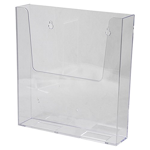 AZM Displays Wall Mount Brochure Holder 8.5 x 11 Inches Clear Acrylic Premium Quality