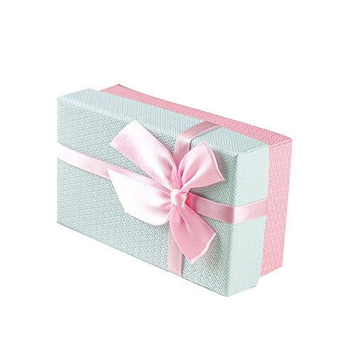 Drasawee Portable Basket Shape Gift Box for Christmas Festival Special Occassions Pink 5.5X3X2