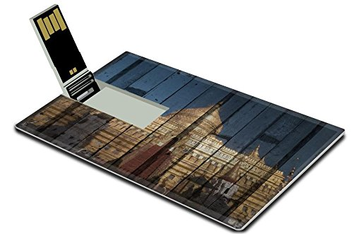Luxlady 32GB USB Flash Drive 2.0 Memory Stick Credit Card Size Shwezigon in Bagan Myanmar Mural The wood painting concept IMAGE 35797940 - Drive Mural