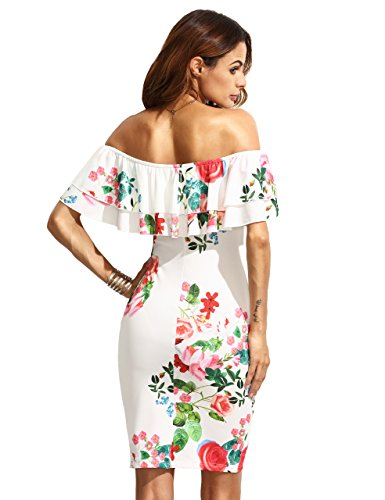 With dress red bodycon flowers white hills nelson