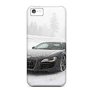 Iphone High Quality Tpu Case/ Audi R8 In Snow RNGjDAm4009mDtTf Case Cover For Iphone 5c