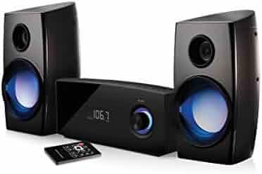 Blackweb BWA16AA002 Micro Bluetooth Stereo with CD Player FM Radio 100W