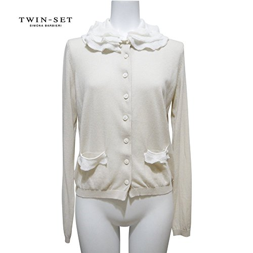 [ツインセット] TWIN-SET  ふわふわ襟が可愛い コットンカーディガン ベージュ #XS TWIN-SET  [並行輸入品]