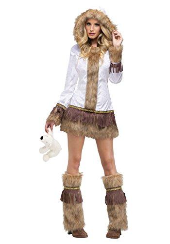 FunWorld Eskimo, White/Brown, 2-8 Small Costume ()