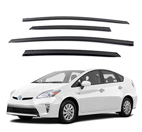 Out Channel Set - Safe Smoke Window Visor Sun Rain Vent Guard 4 Pcs Set for 2009~2015 Toyota Prius Out Channel Visor