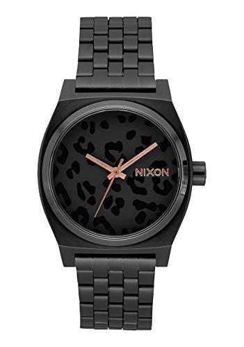 New Nixon Time Teller Watch All Black Cheetah Rose Gold 37MM (Watches For Cheetah Women)