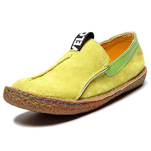 Women ZHRUI Mocassins Slip Grande Confortable Casual Vert coloré EU Suede Taille Flats Taille Faux on Vert 38 rCwyCUEq