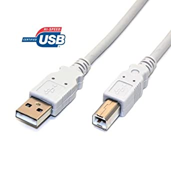 Pair of 6ft USB 2.0 Printer Cables