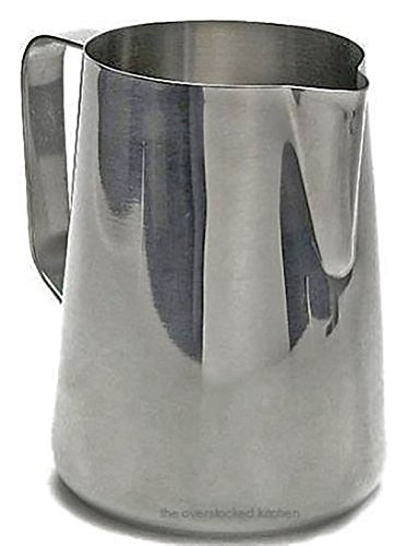 33 oz. Espresso Coffee Milk Frothing Pitcher, Stainless Steel (18/10 Gauge) - Set of 6 by Update International