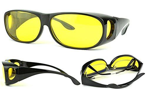SOOLALA Value Pack HD Night Vision Wraparounds Wrap Around Windproof Sunglasses