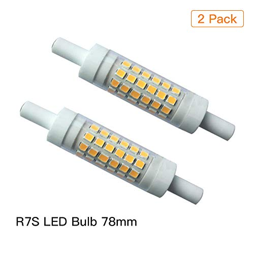 EBD Lighting R7S LED Bulb 78mm (2 Pack) Double Ended T3 J Type Bulb Replacement 78mm 5W 110V Dimmable 3000K Warm White 50W Halogen Equivalent 360 Degrees ()