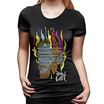 bon iver shirt women basic round neck tops cotton t shirts clothing. Black Bedroom Furniture Sets. Home Design Ideas