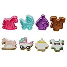 Allforhome Baby Shower Molds Plunger Cutter Moulds cake decorating fondant embossing tool 4 PCS