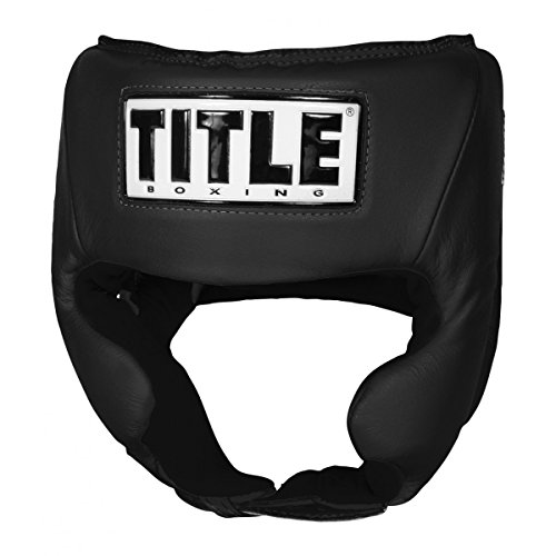 (TITLE USA Boxing Amateur Competition Headgear (w/Cheeks), Black, Medium)