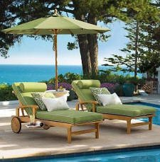 Outdoor Sunbrella Fabric Custom Made Cushions for Sack Chaise Lounger - Cushions Only #WHCHSKCS (Steamer Teak Cushions Chair Lounge)