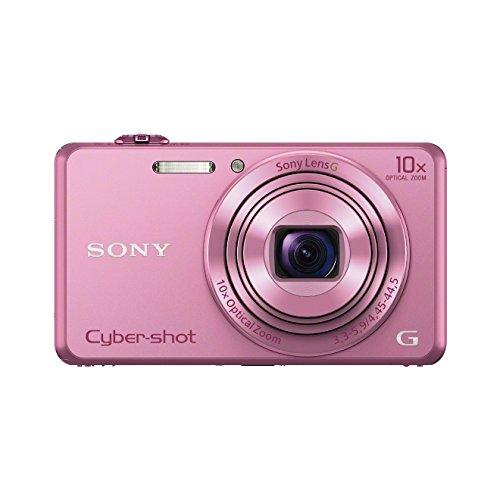 Sony DSC-WX220 Digitalkamera (18 Megapixel, 10-fach opt. Zoom, 6,8 cm (2,7 Zoll) LCD-Display, NFC, WiFi) pink