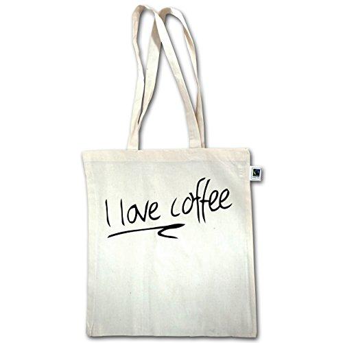 Küche - I Love Coffee - Unisize - Natural - XT600 - Jutebeutel lange Henkel 69wum