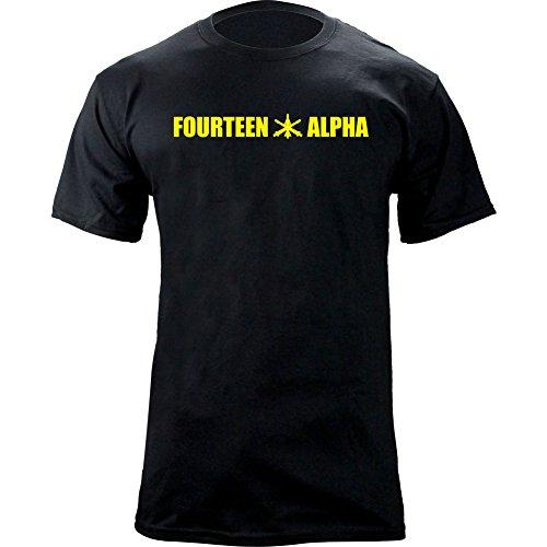 Army MOS Air Defense Artillery 14 Alpha 14A Veteran T-Shirt (M, Black/Yellow)