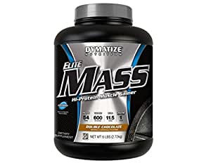 Dymatize Elite Mass Hi-Protein Muscle Gainer, Double Chocolate, 6 lbs