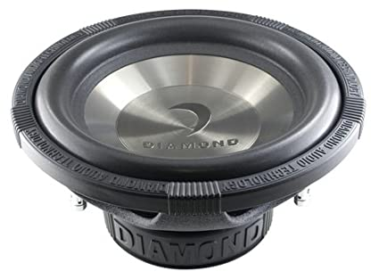 amazon com diamond audio d1 12d2 12 inch 200 watts rms dual 2 ohm diamond audio d1 12d2 12 inch 200 watts rms dual 2 ohm subwoofer 400 w