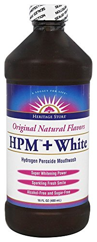 Hydrogen Peroxide Mouth Rinse (Heritage Hydrogen Peroxide Mouthwash + White Heritage Store, 16 Ounce)