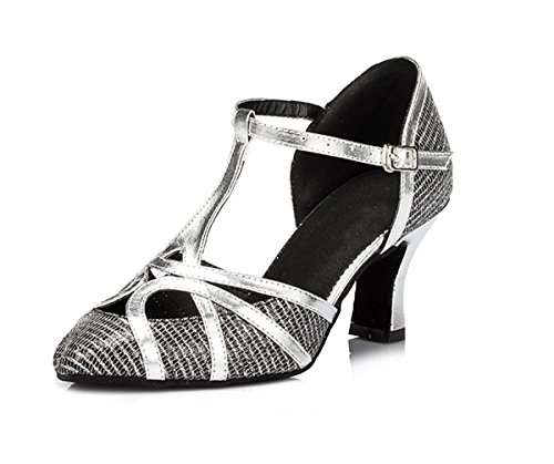 Shoes Strap Toe Black 7cm Wedding Dance Glitter Latin Shoes Miyoopark Close Women's Comfortable Tango T Heel 0xa4ap