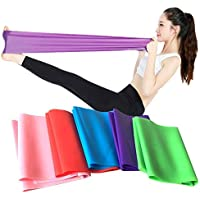 Flat Resistance Band, Elastic Exercise Equipment, Straight Stretching Fitness Training for Full Body Leg, Crossfit PT Yoga Stretch Rehab Therapy, Home Gym for Men & Women, by Ashnna (5 Piece Set)