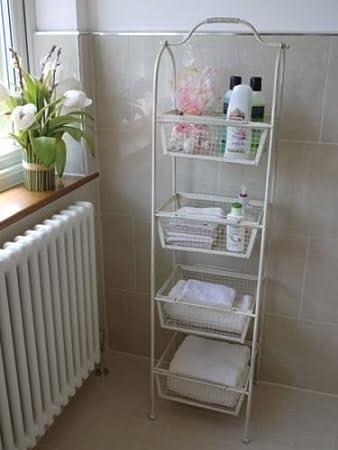 Hoch 4 Ebenen Draht Badezimmer Küche Aufbewahrung Regal Caddy ...