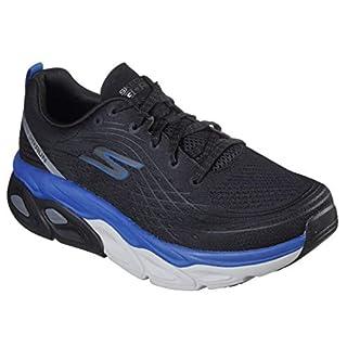 Skechers Men's MAX CUSHION-54440 Sneaker, Black/Blue, 9.5 M US