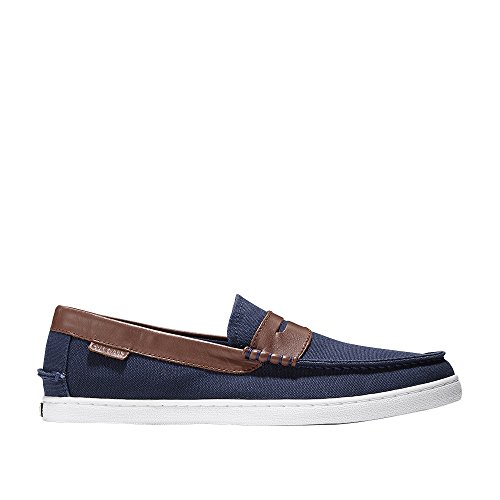 Cole Haan Mens Nantucket Mocassino Giacca Tessile Blu-castagna