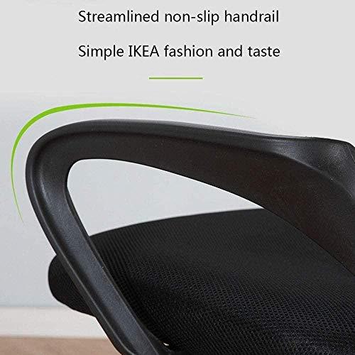 Justerbart armstöd med högt ryggstöd midjesödande huvudstöd roterbar arbetsbordsstol datorstol besökare stol knästol (färg: svart)
