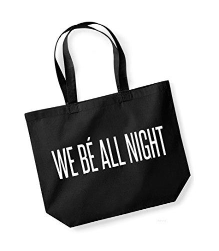 Bag Unisex Night Kelham Cotton All Print Black Be We white Canvas Slogan Tote ZwYAqw