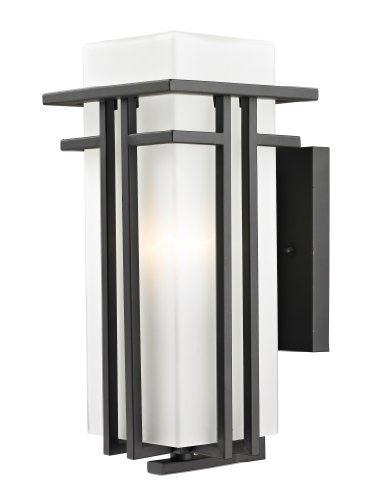 Z-Lite 550M-ORBZ Outdoor Wall Light and Matte Opal shade, Glass (Light Outdoor Wall Abbey)