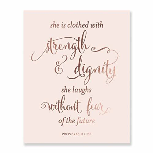 Poster She Is Clothed With Strength: Amazon.com: She Is Clothed With Strength And Dignity Rose