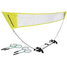EastPoint Sports Easy Setup Badminton Net Set -5 Feet- Features Convenient Carry Storage Built-in Base, Weather Proof Material-Includes Badminton Net, 4 Badminton Rackets and 2 Badminton Shuttlecocks
