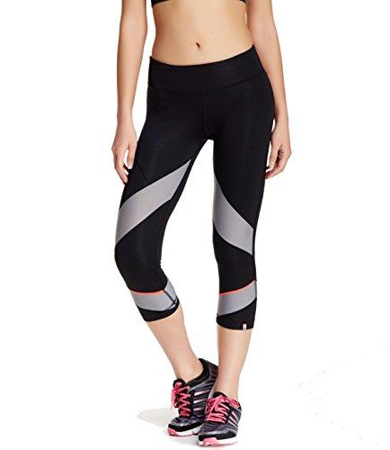 Adidas Racer Climalite Crop Reflective Running Capri Pants Black Grey Small