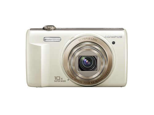 Olympus Optical Camcorder - Olympus VR-340 16MP Digital Camera with 10x Optical Zoom (White) (Old Model)