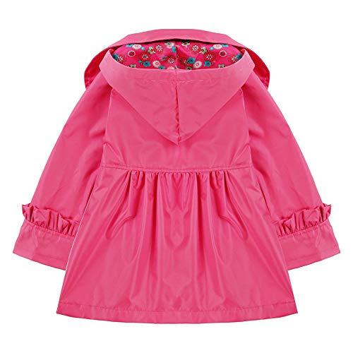 bbbd41c78 Arshiner Girl Kid Flower Waterproof Hooded Coat Jacket Outwear ...