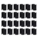 Wire Shelf Clips, 1'' Post 50 Pack Wire Shelving Shelf Lock Clips, Shelving Split Sleeves Plastic Black by EQUASON