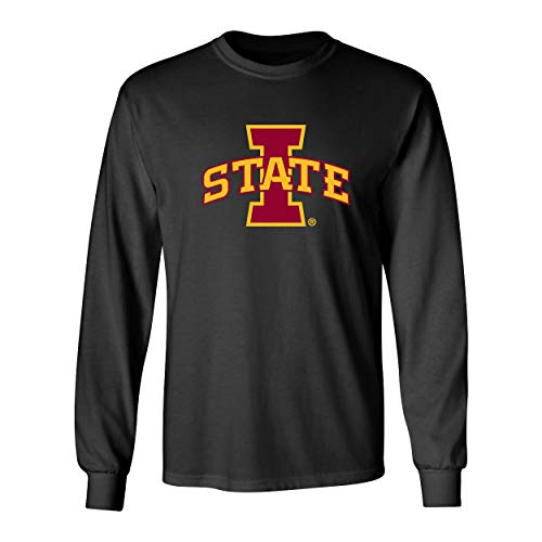 - CornBorn Iowa State Cyclones Tee Shirt - Long Sleeve ISU Logo - Let's Go State - Black - 2X