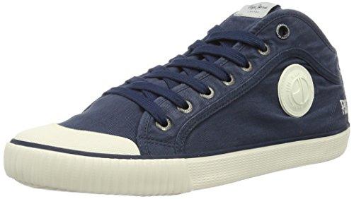Pepe Jeans London Industry Studio, Zapatillas para Hombre Azul (Navy)