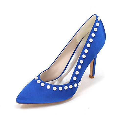 Yards YC wies Farben High verfügbare L nach Blau Große mehr Heels haben Maß Hochzeitsschuhe Frauen 4wdU4Oxzq1