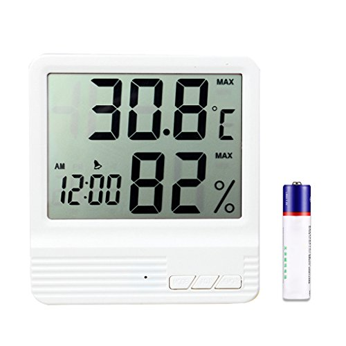 Mengshen Indoor Hygrometer Thermometer, Home Office Digital Temperature Humidity Meter Monitor(-58°F to 158°F) - TH04, White by Mengshen