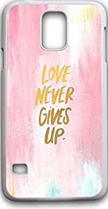 Samsung galaxy note S5 case quotes Dseason ,Fashion printing series,High quality hard plastic material love never gives up
