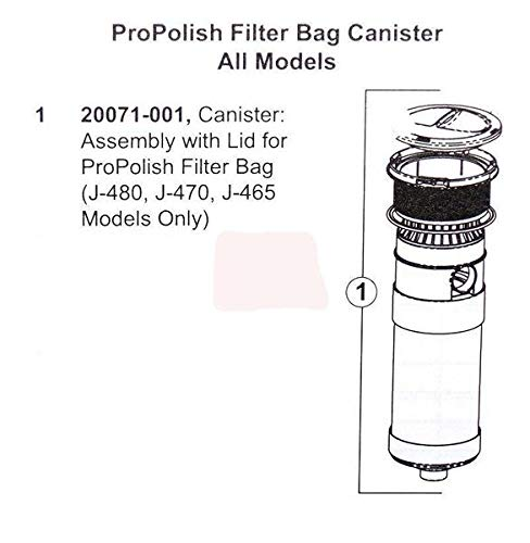 Spa Filter Part Canister - Hot Tub Sundance Filter Part: Spa Pro Polish Filter Bag Canister with Lid HTCPSD20071-001/20071-001