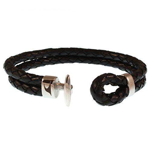 5de672728189 WAVEPIRATE® Piel de pulsera Aruba F Negro Cierre de Acero Inoxidable en  Caja de Regalo