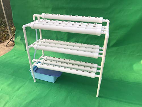 LAPOND Hydroponic Grow Kit,3 Layers 90 Plant Sites PVC Pipe Hydroponics 10 Pipes Hydroponics Growing System Water Culture Garden Plant System for Leafy Vegetables by LAPOND (Image #2)