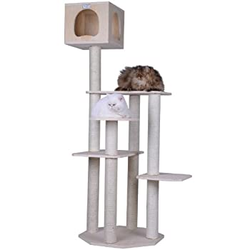 Image of Armarkat S6905 Premium Solid Wood Cat Tree Tower, 69' Pet Supplies