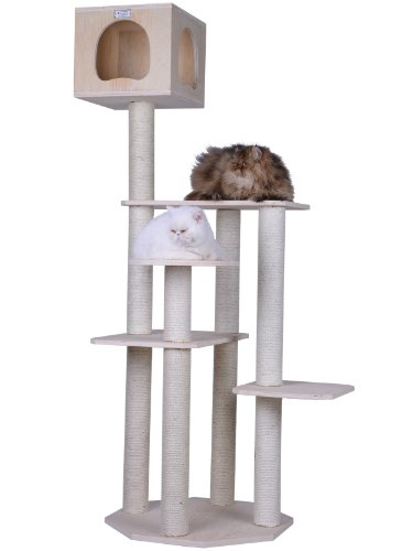 Wood Cat Condo (Armarkat S6905 Premium Solid Wood Cat Tree Tower, 69